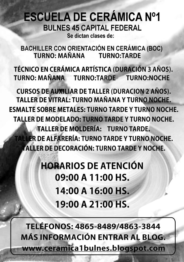 Afiche Escuela de Cer+ímica N-¦1 Noviembre ByN