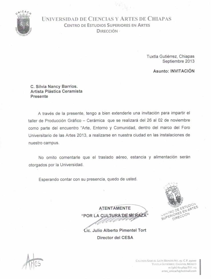 invitacion a Chiapas