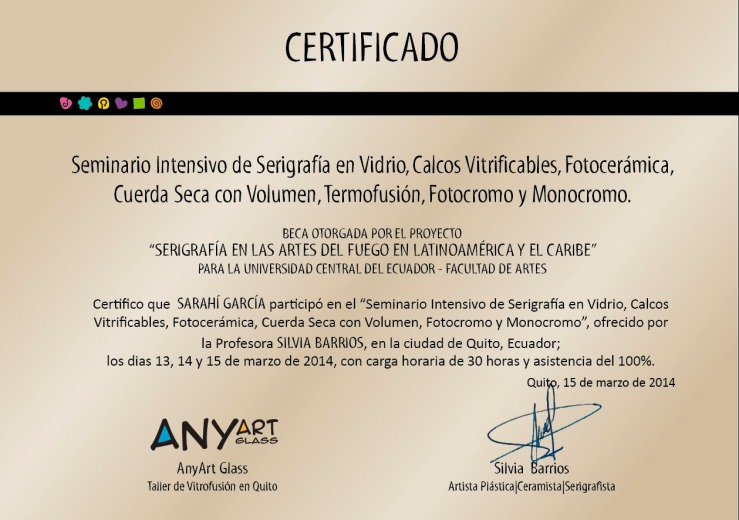 certificado beca