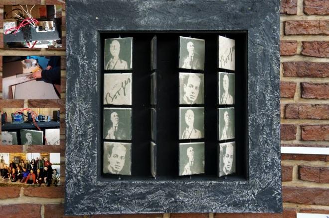 """""""Borges 2.0"""" Colectivo """"UNA Multimedial, Electrónica para el Arte"""" Gupo de estudio experimental UNA: Silvia Barrios/Emiliano Braña/ Juan Carlos Ramayo/Mirian Cabeza. Proyecto participativo y multimedial:"""
