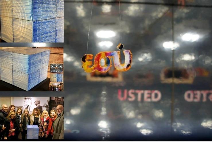"""Espiral do tempo"" Colectivo ""CUBO"" Grupo de trabajo experimental: Alice Diniz, Jorge Teles, André Moraes, José Castelo Branco Proyecto participativo. Lisboa, Portugal - 2015"