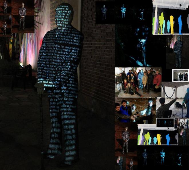 """""""Golem"""" Colectivo Tako Equipo de estudio experimental UNA: Silvia Barrios/Emiliano Braña/ Melina Franco/ Ximena María Paludi/Fabián Sguiglia/ Santiago Terigi Proyecto interactivo y multimedial"""