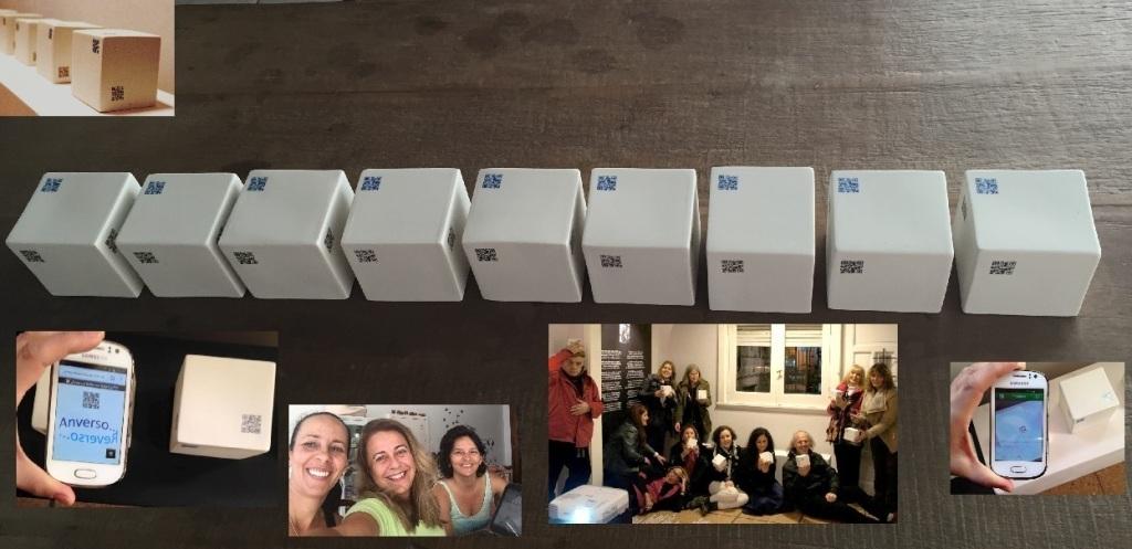"""Anverso... Reverso"" Colectivo Vitória Equipo de estudio experimental: Marina Barroso, Penha Schirmer, Teresa Drago Proyecto interactivo y multimedial Vitória, Brasil - 2015"