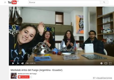 MediLab en tiempo real y en simultáneo con Ecuador y Argentina. Aprendizaje abierto, en línea y colaborativo. 2014